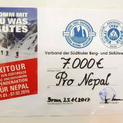 Spende der Bergführer Südtirols