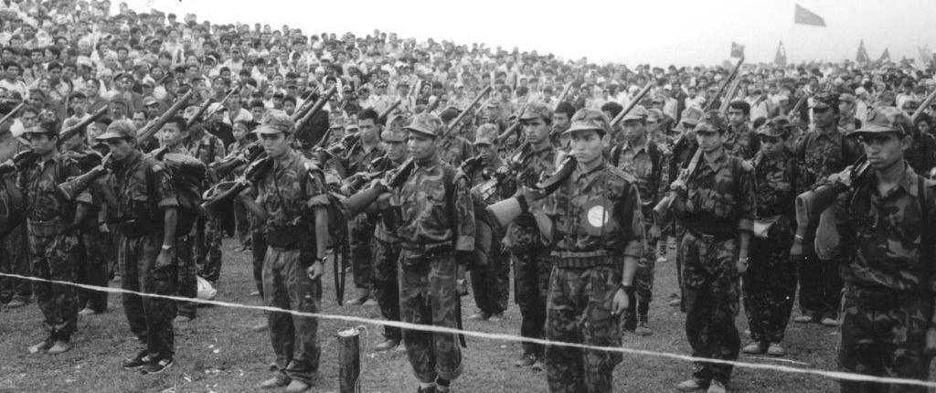 Maoistenparade Nepal 2002
